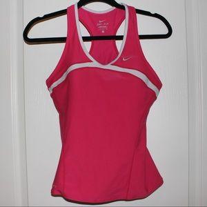 Nike Dri-Fit Tank Top w/ Built-in Sports Bra •Pink